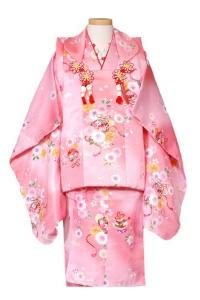 全体的にピンク 着物