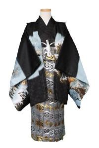 黒 羽織 銀 袴